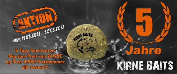 Jubiläums Aktion 5kg Boilies